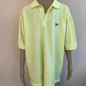 Ocean Reef Club M Yellow Cotton Polo Golf Shirt